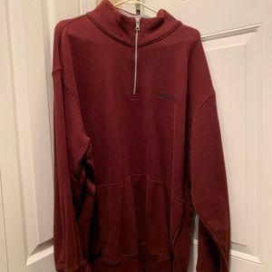 Nautica XXL 2X 1/4 Zip Burgundy sweatshirt Unisex